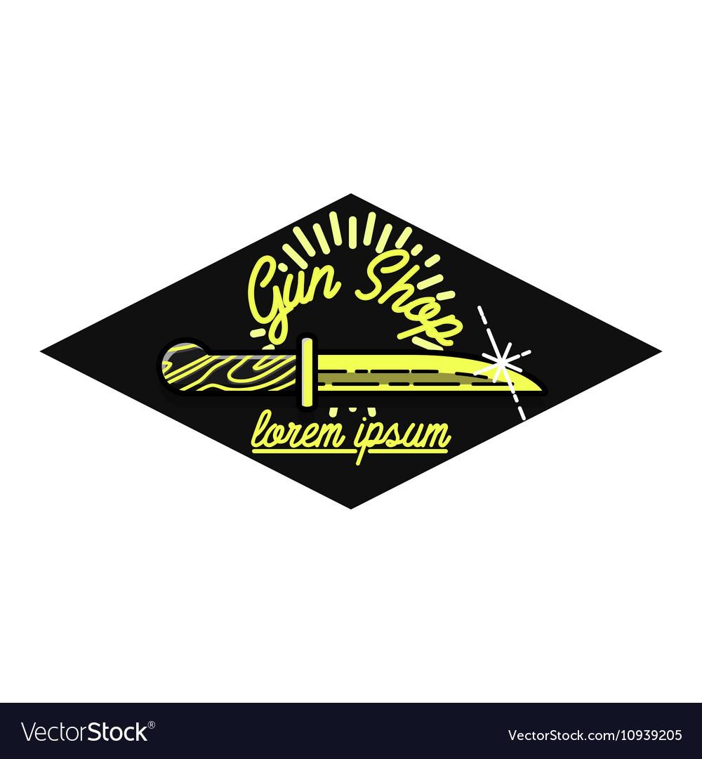 Color vintage guns shop emblem