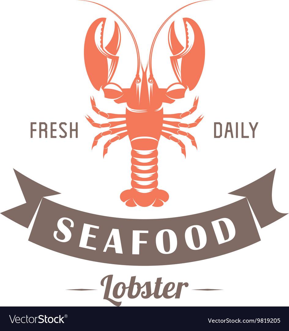 Lobster emblem vector image