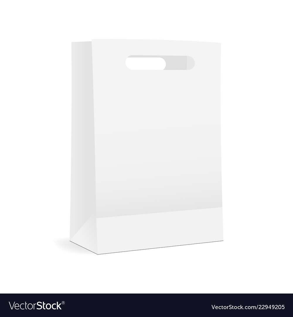 paper shopping bag mock up royalty free vector image