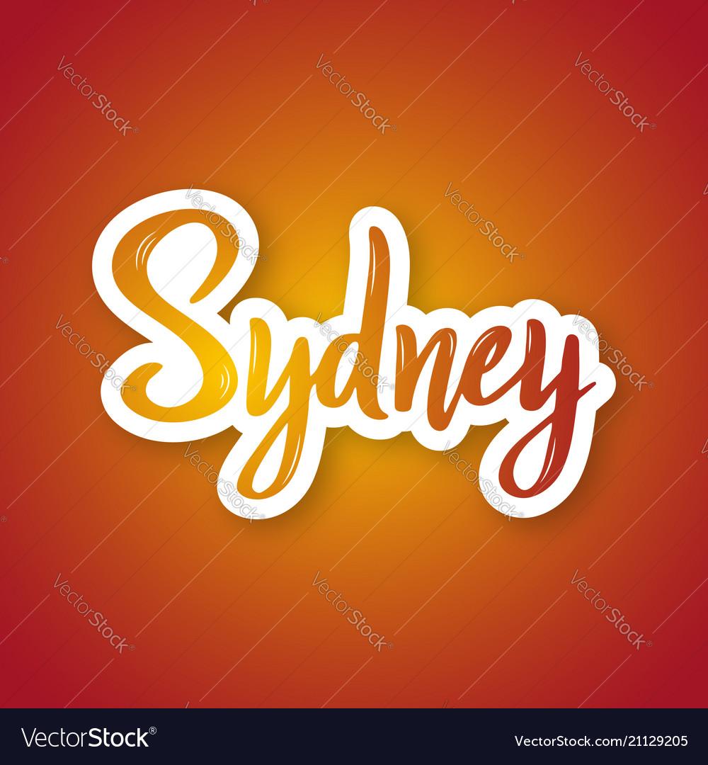 Sydney - hand drawn lettering phrase sticker