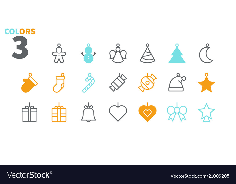 Toys on the christmas tree pixel perfect icons