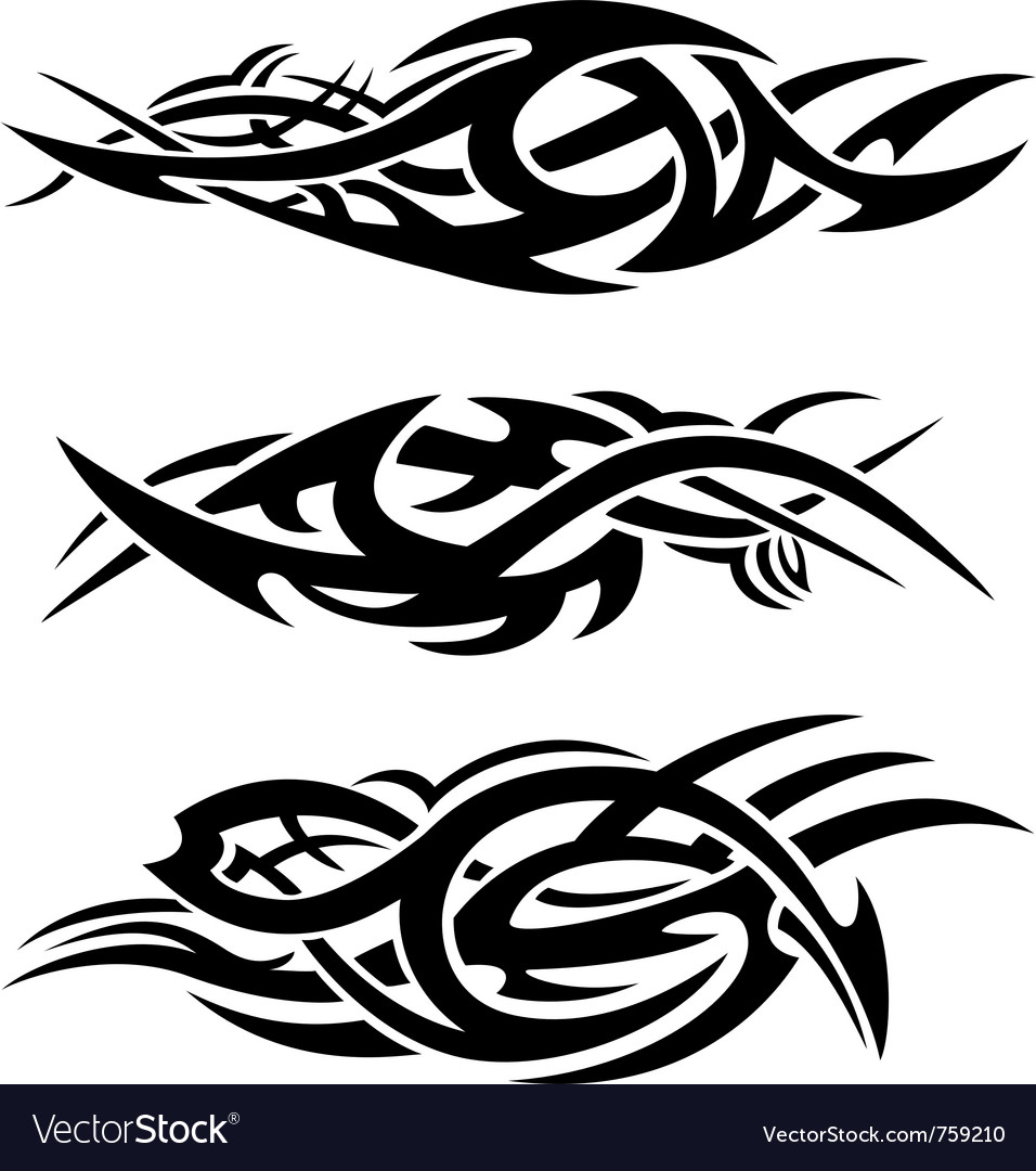 Abstract tribal flames