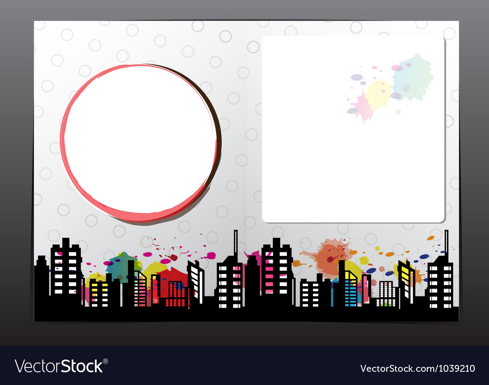 Advertise layout brochure design vector image