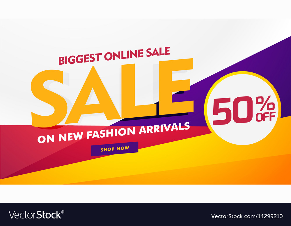 157df4a52 Biggest online sale poster banner template design Vector Image