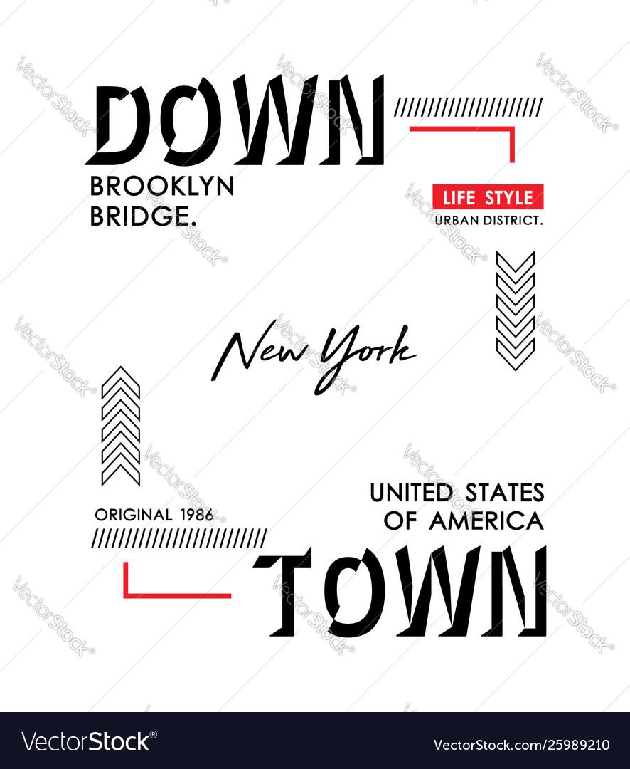 Downtown new york typography design