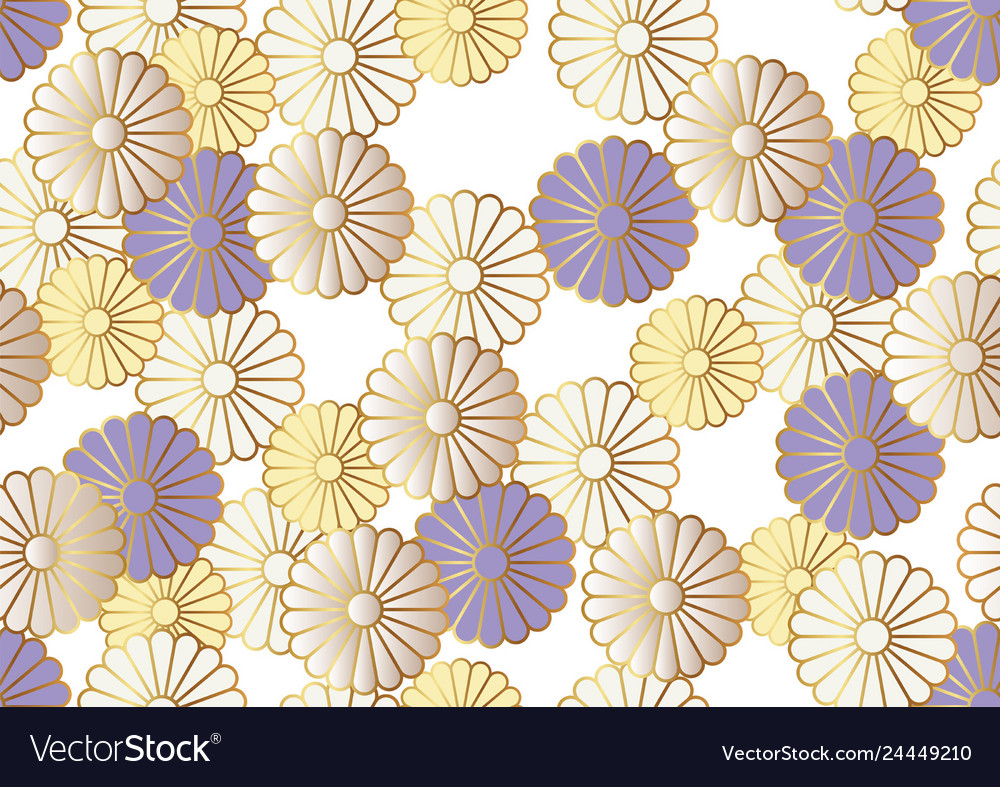 Japanese seamless chrysanthemum pattern