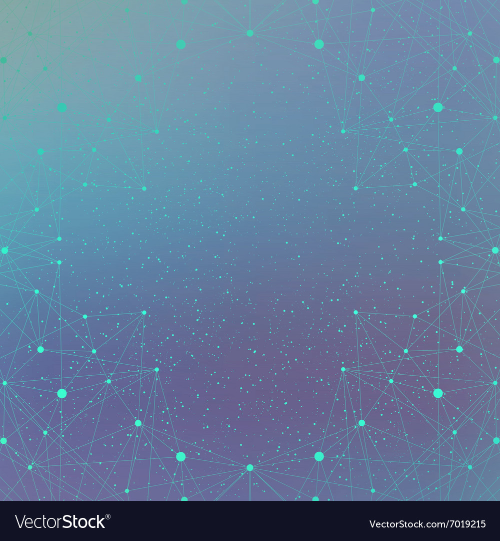 Geometric background molecule and communication vector image