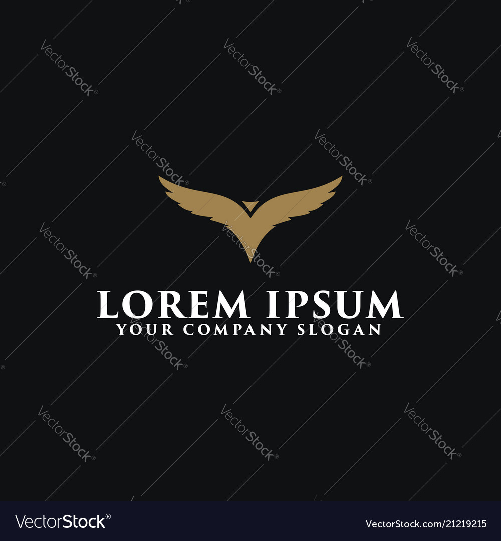 Luxury bird logo design concept template design