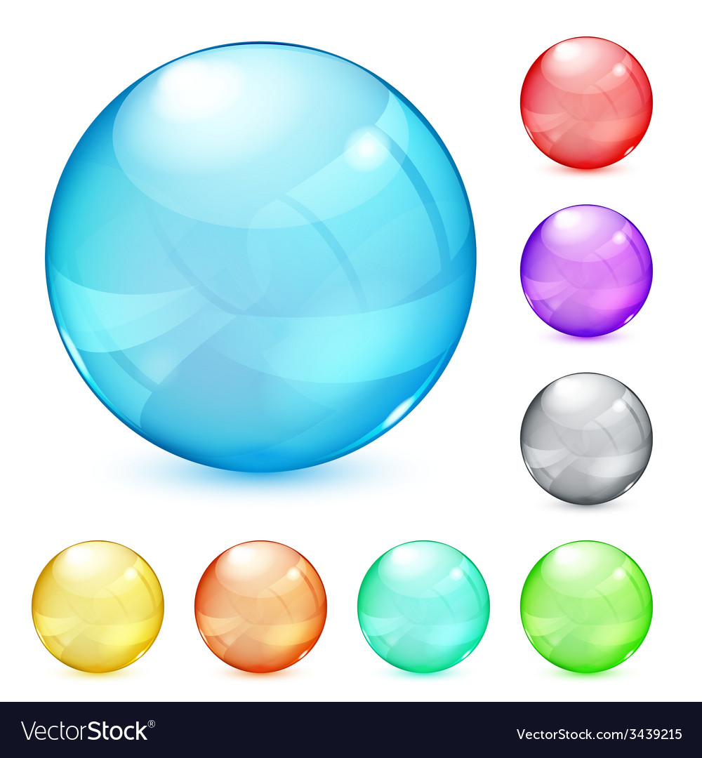 opaque glass spheres royalty free vector image