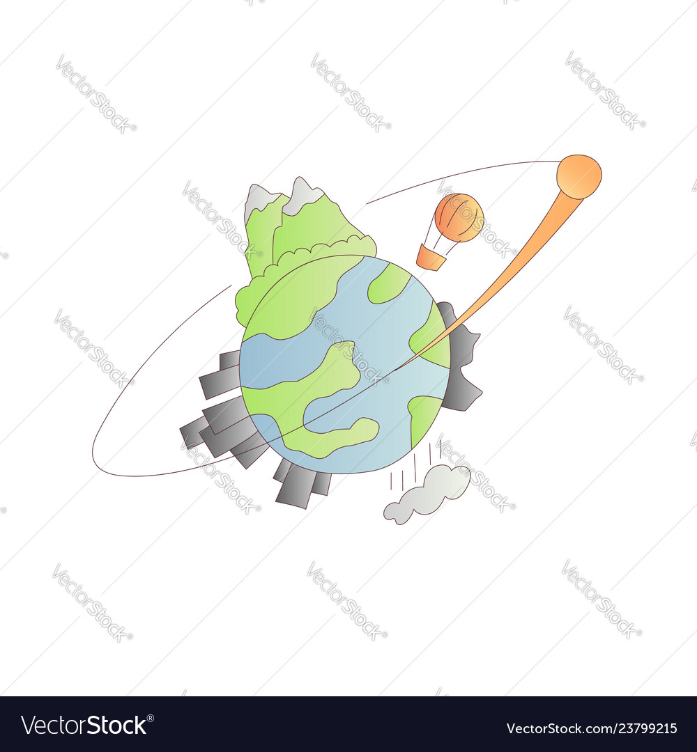 Planet earth cartoon icon and