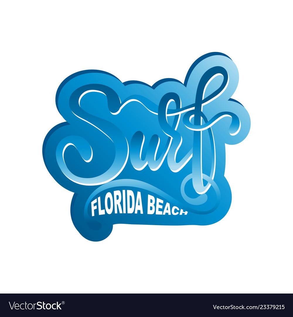 Surf lettering logo in graffiti style