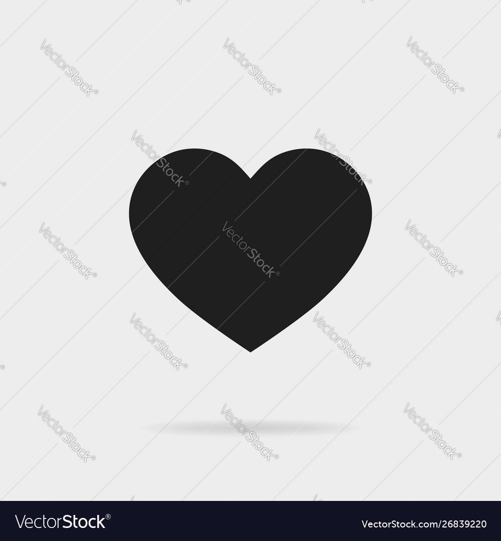 Black heart shapelike icon social media icon