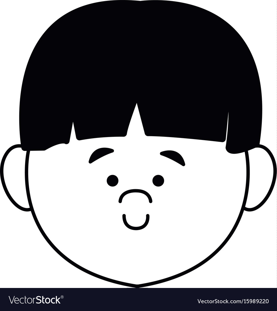 cartoon profile boy little avatar people young vector image