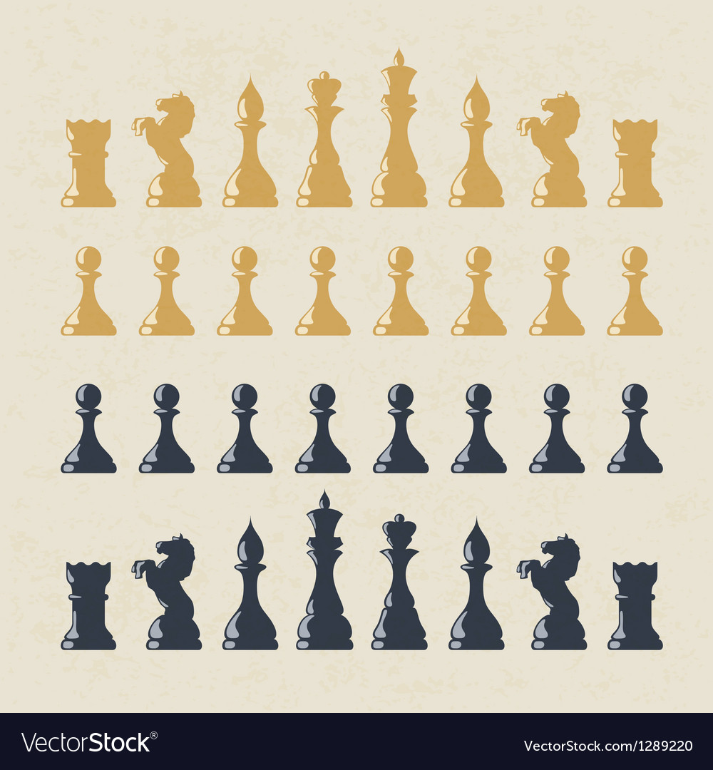 Chess figures collection vector image