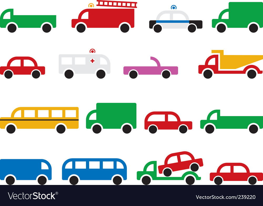 City transport symbols vector image