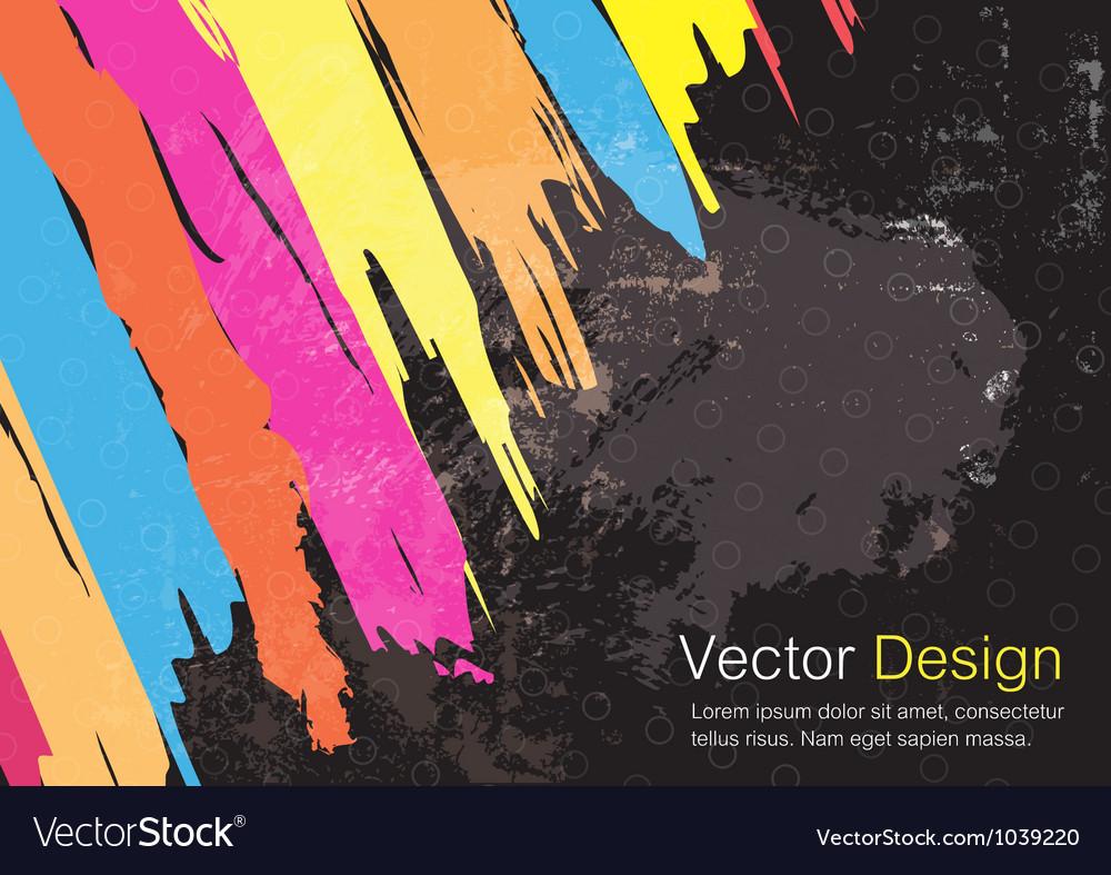 Color paint stripe background design