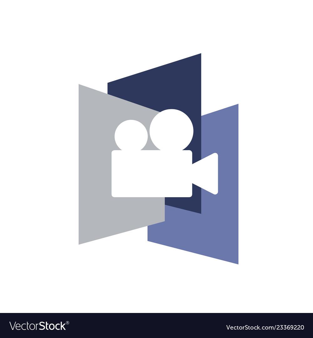 Creative video production design logo