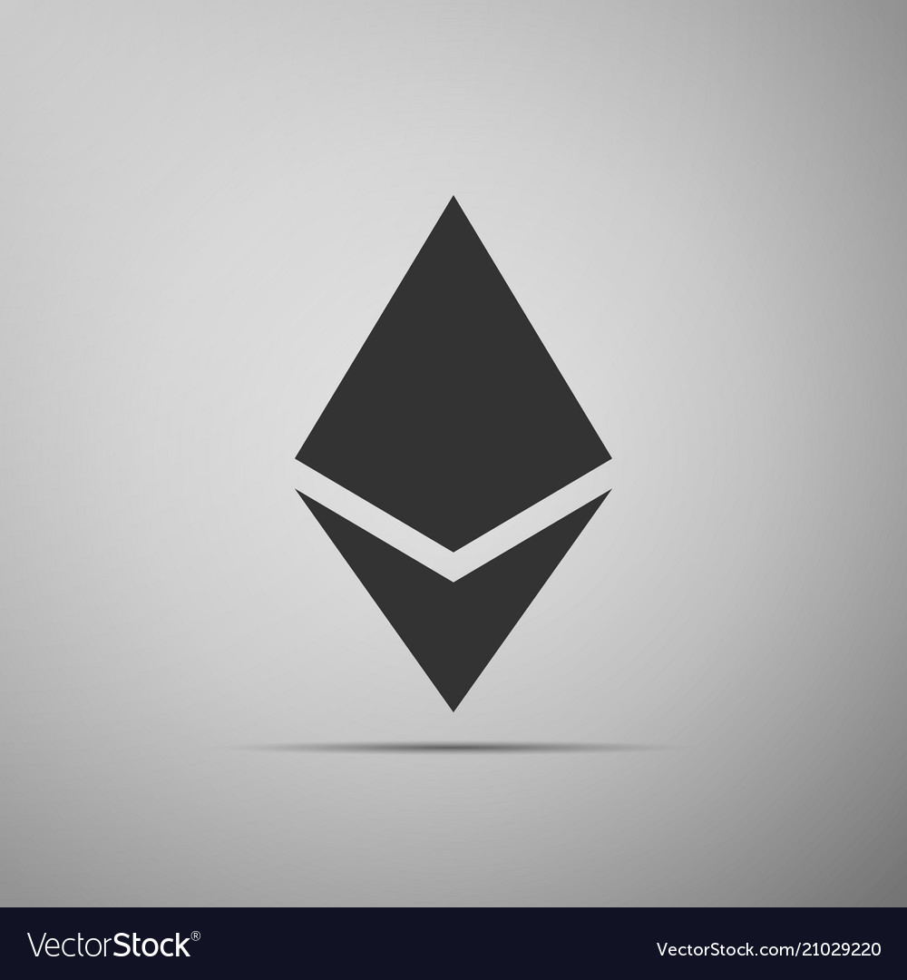 Cryptocurrency coin ethereum eth icon isolated on