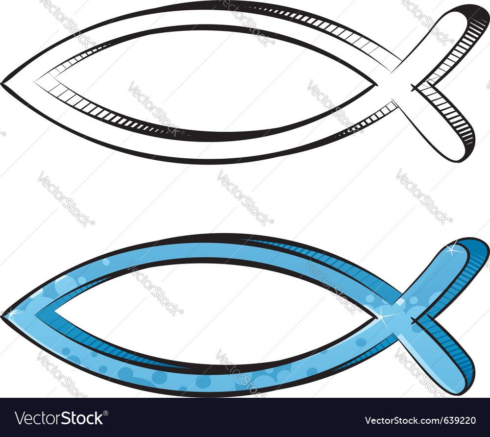 Fish graffiti vector image