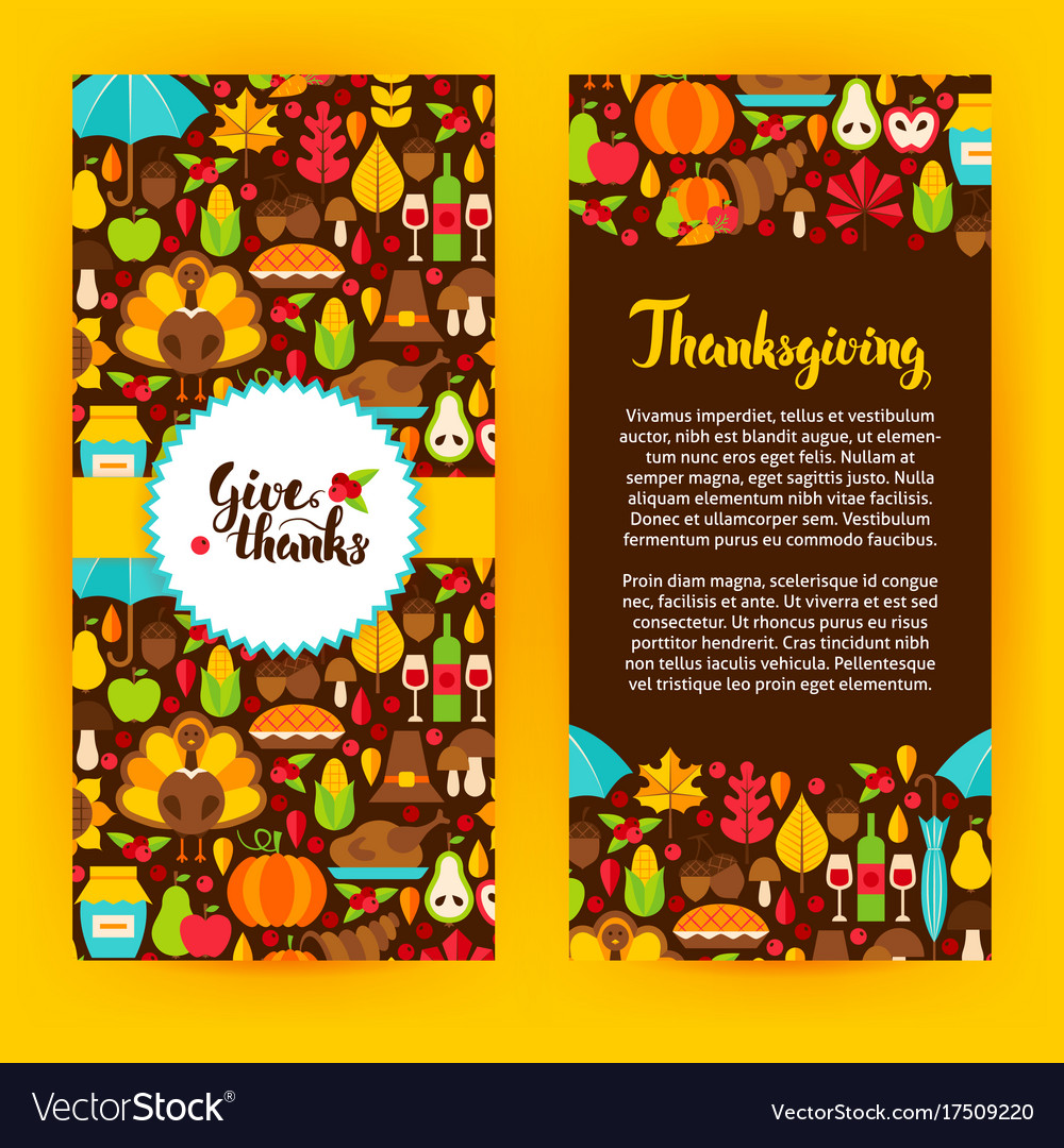 Flyer Template Thanksgiving Royalty Free Vector Image