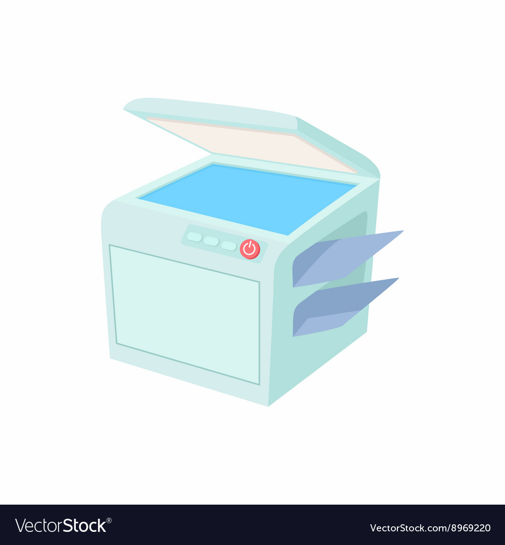 Multipurpose device fax copier and scanner icon vector image