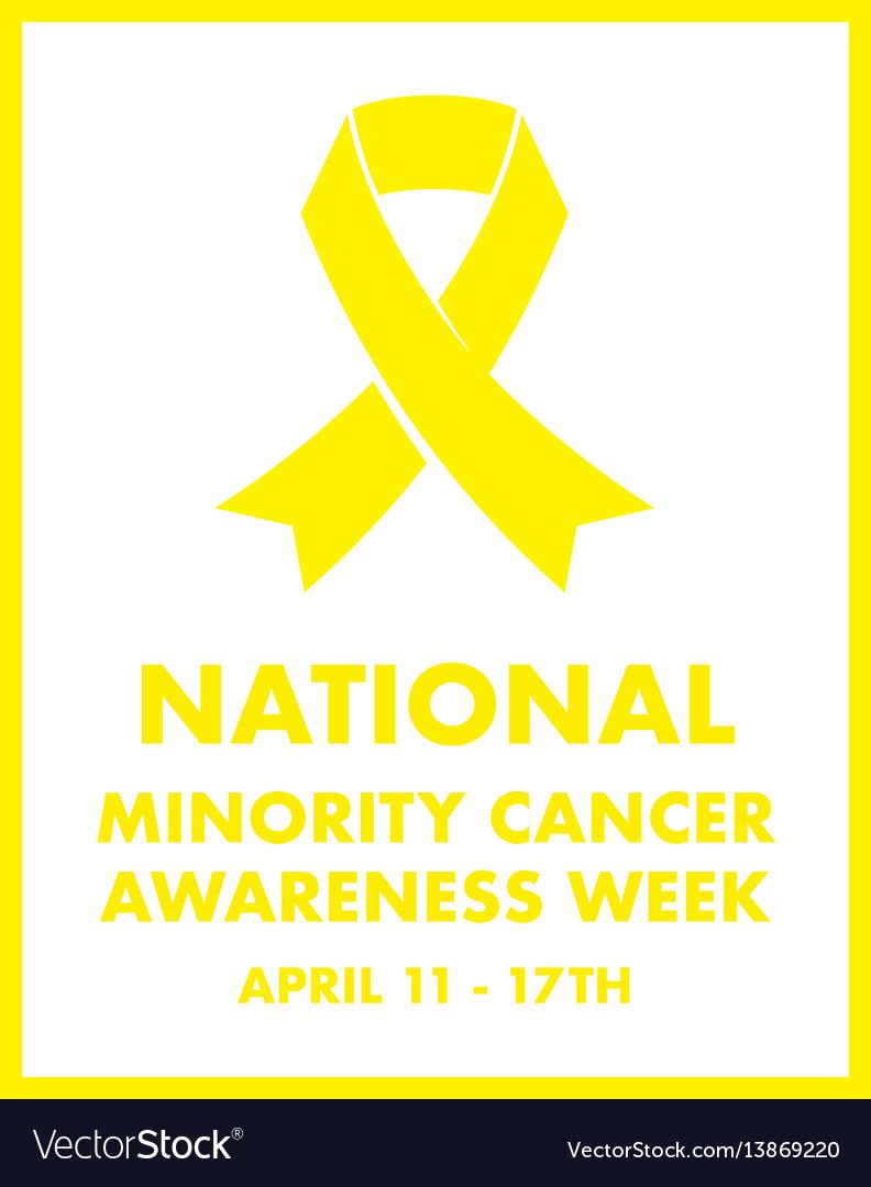 National minority cancer awareness ribbon