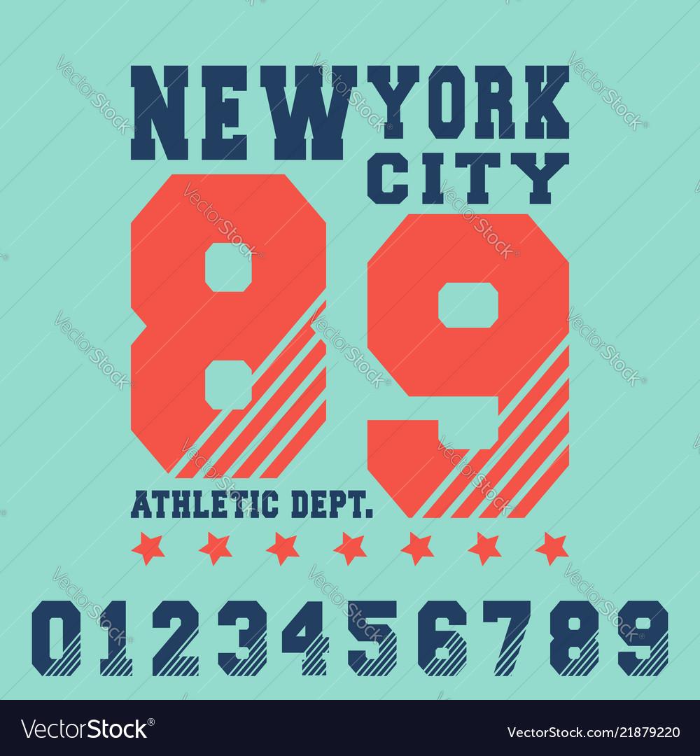 New york city t shirt print design