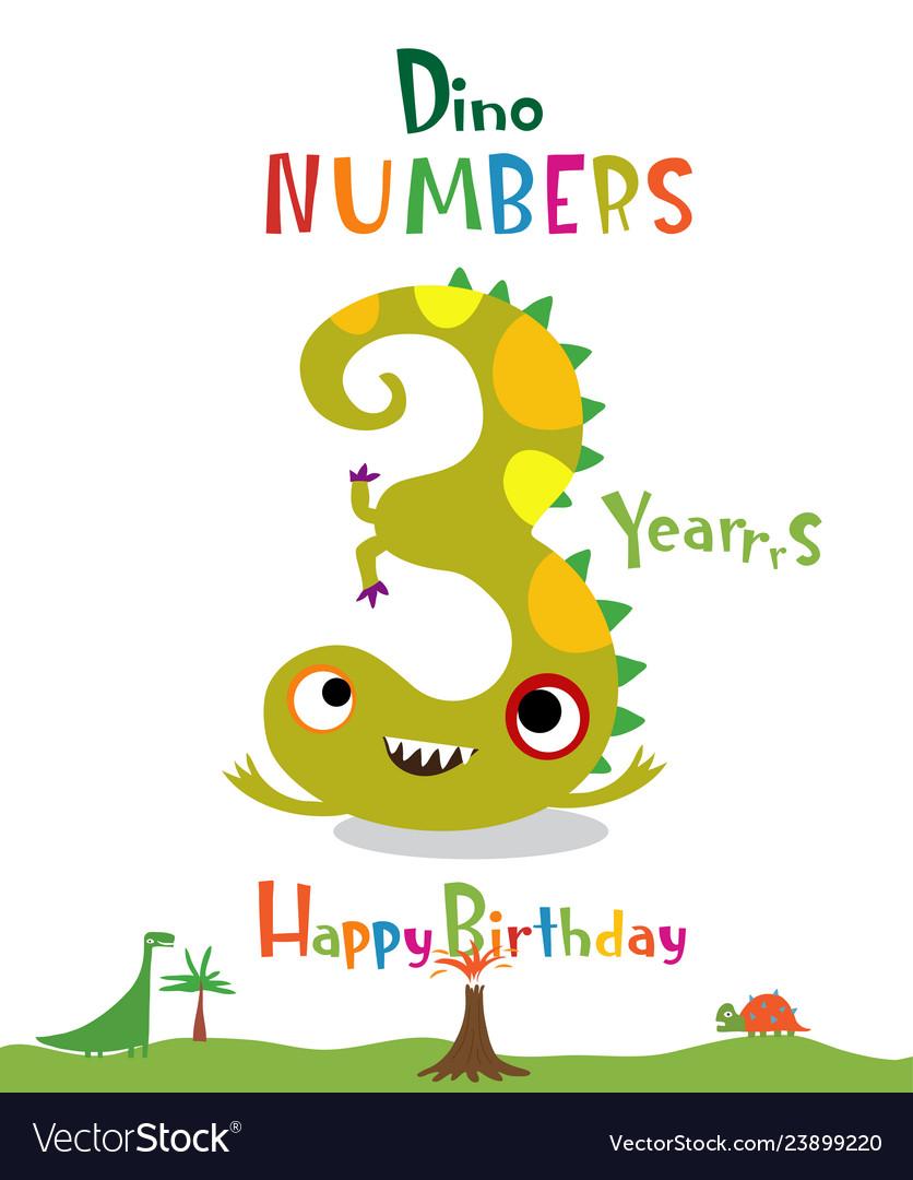 happy birthday numbers 3 3