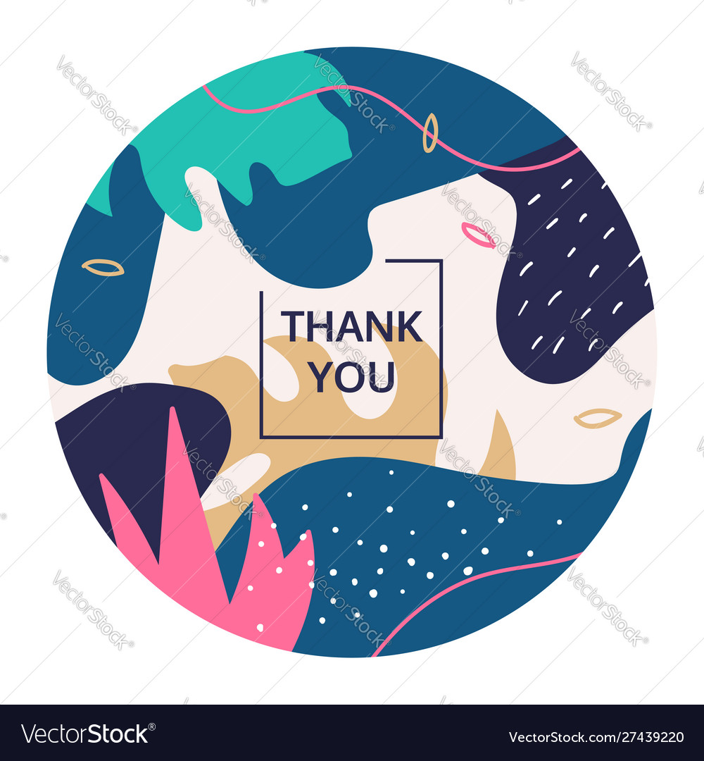Thank you abstract colorful poster template