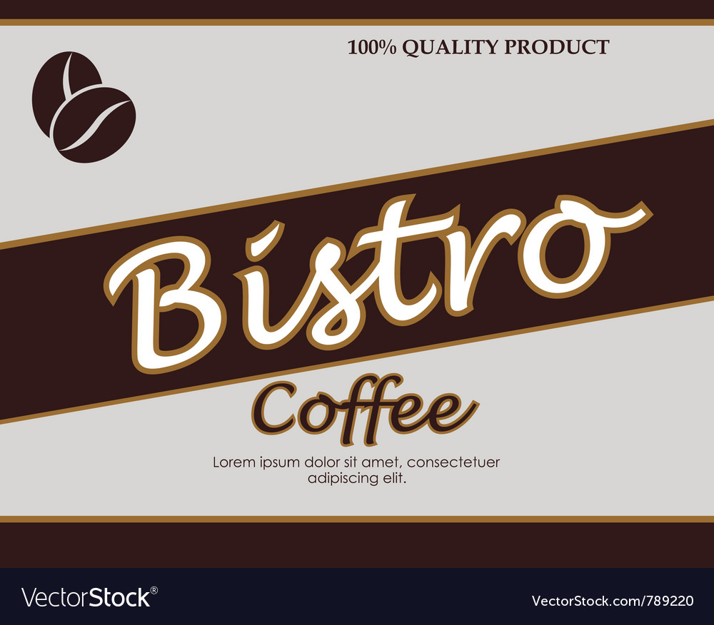 Vintage template design for coffee bar