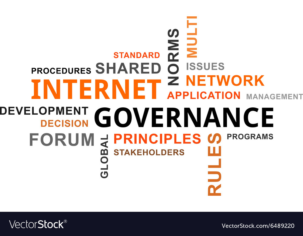 Word cloud internet governance vector image