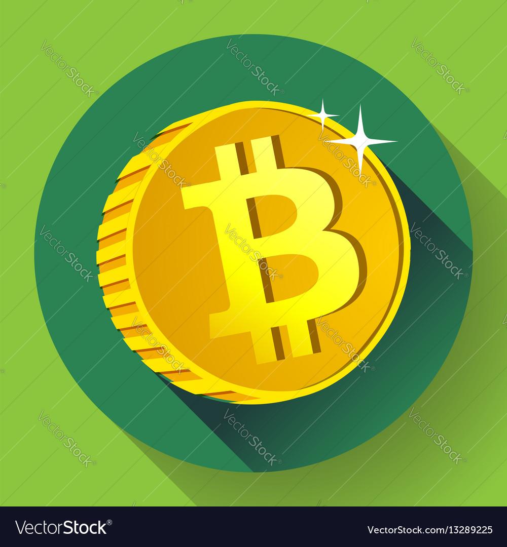 Bitcoin gold coin with bitcoin symbol