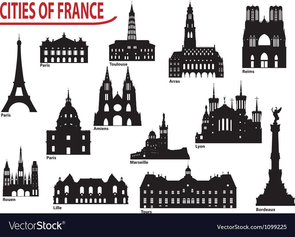 City of France vector image