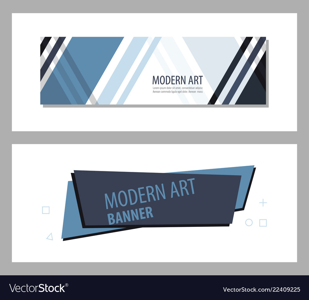 Set of abstract geometric design banner web