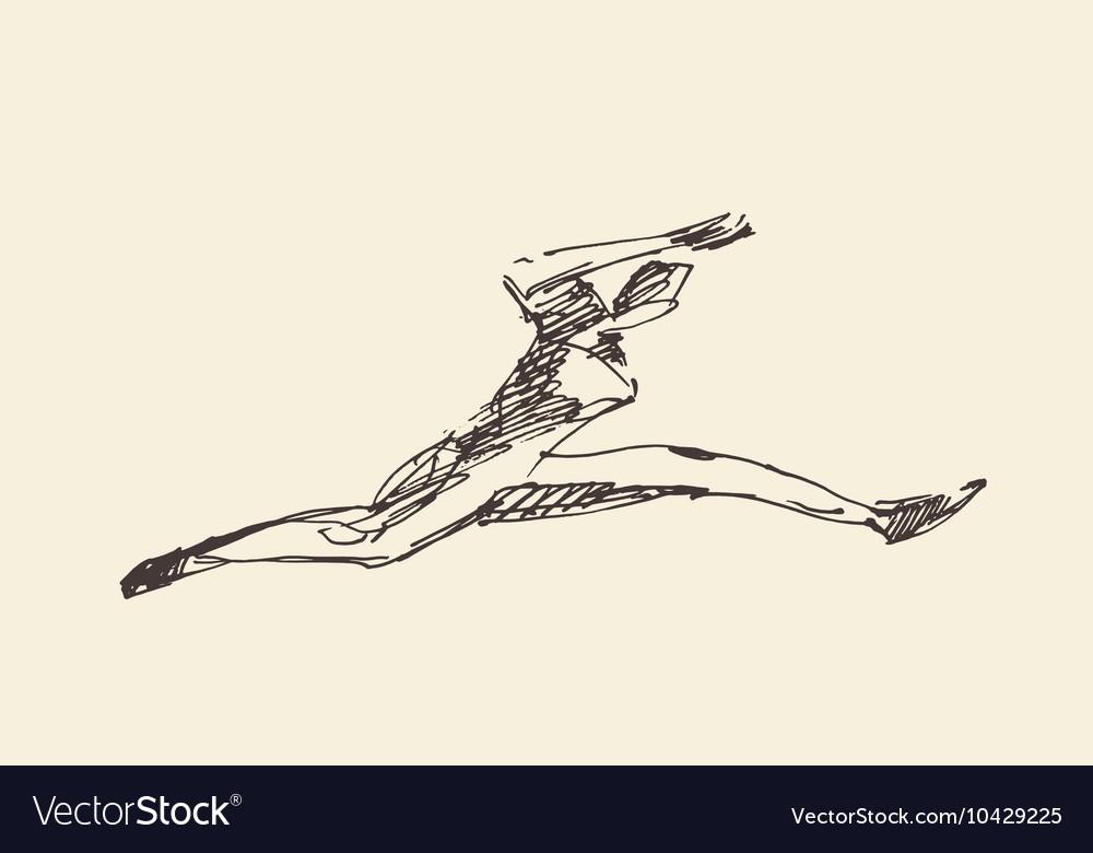 Sketch runner running man