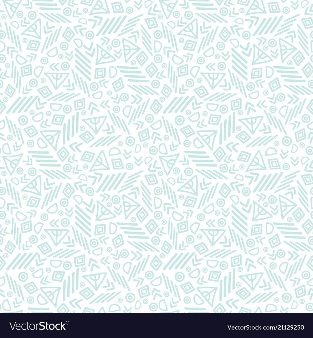 Blue tribal abstract seamless repeat pattern vector image