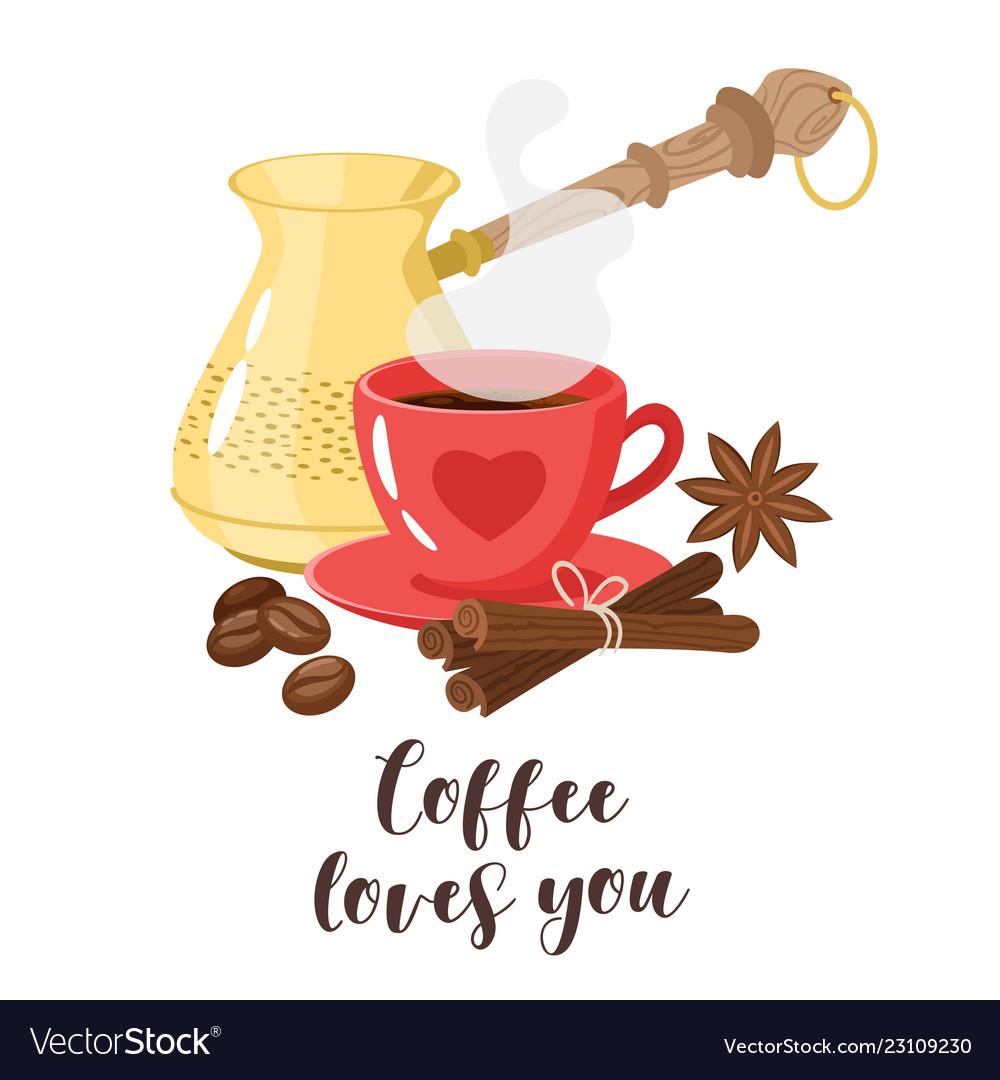 Design with turk coffee maker