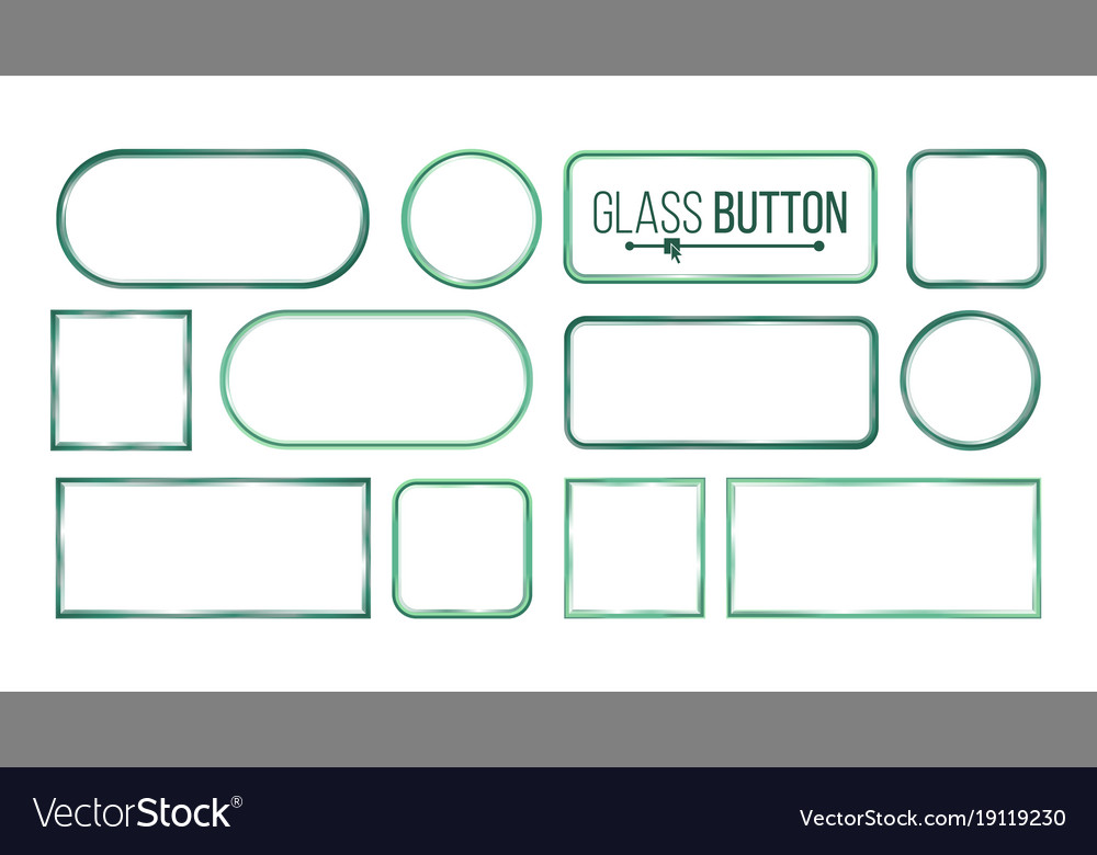 Glass buttons frames square round