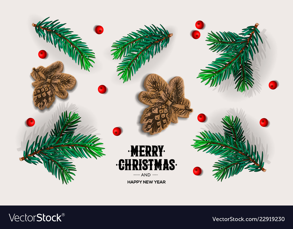 Merry christmas and happy new year design with