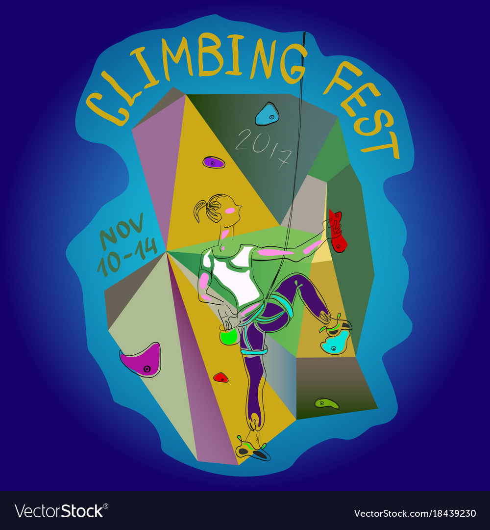 Poster climbing wall festival