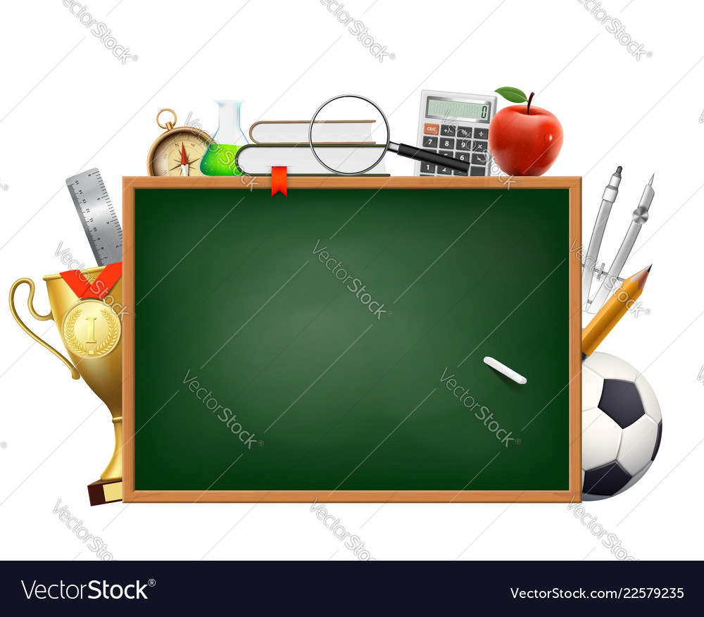 Back to school background with a blackboard