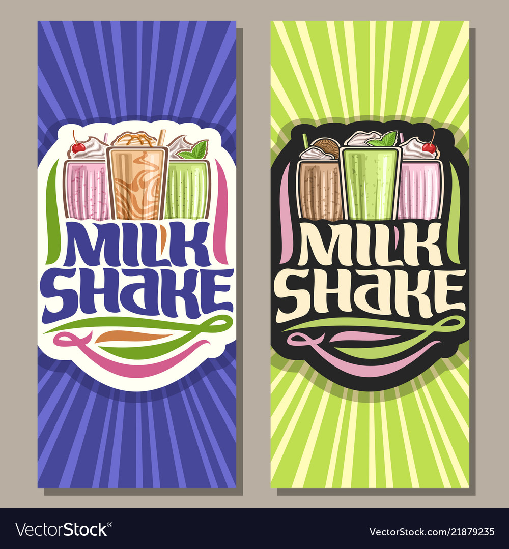 Banners for milk shake