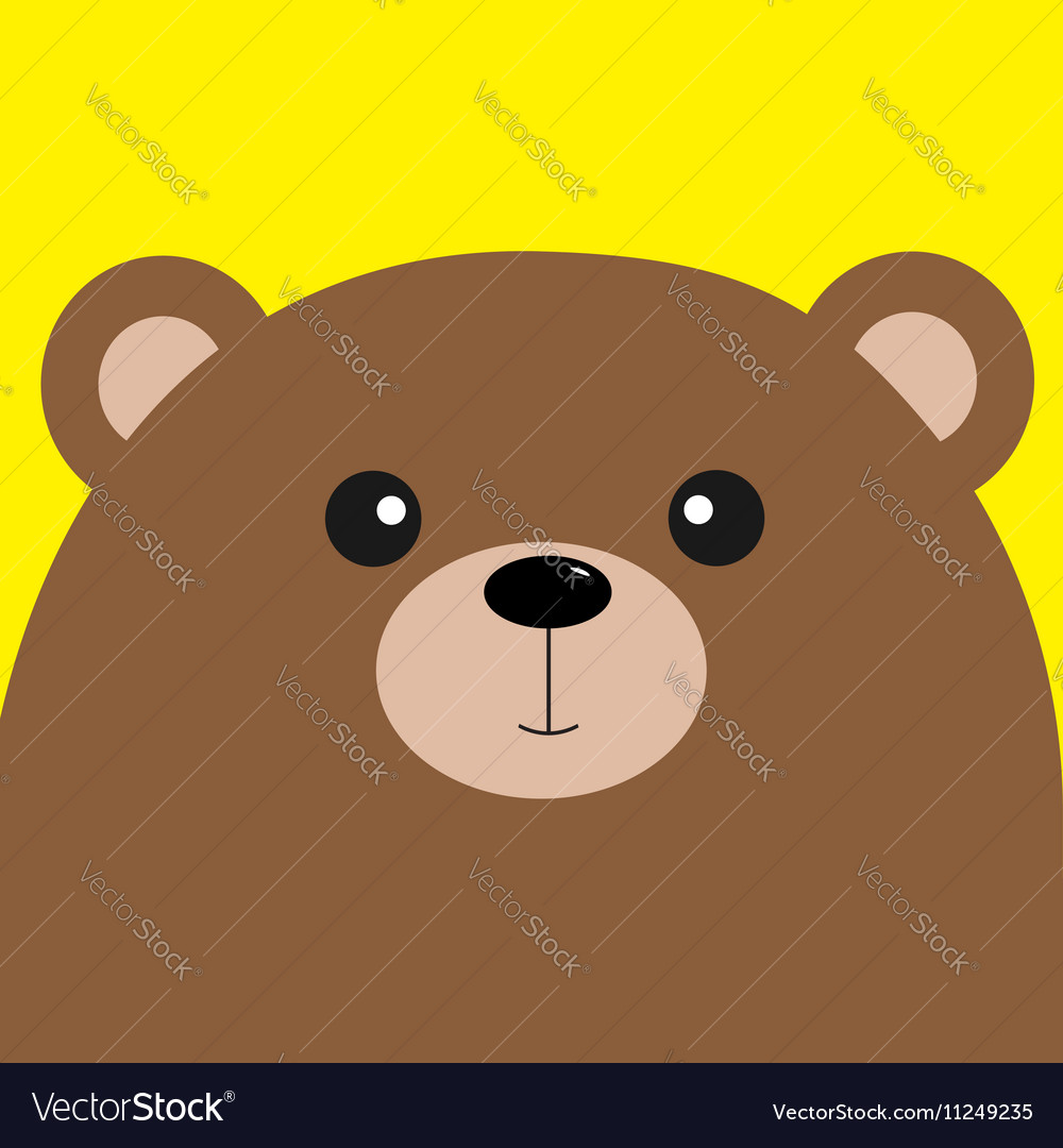 Bear grizzly big head Cute cartoon character