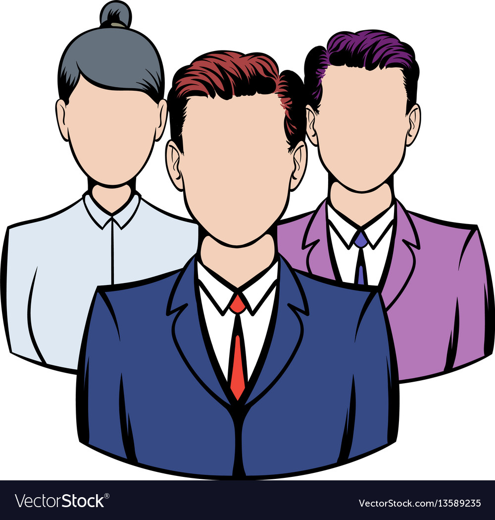 Business team icon icon cartoon