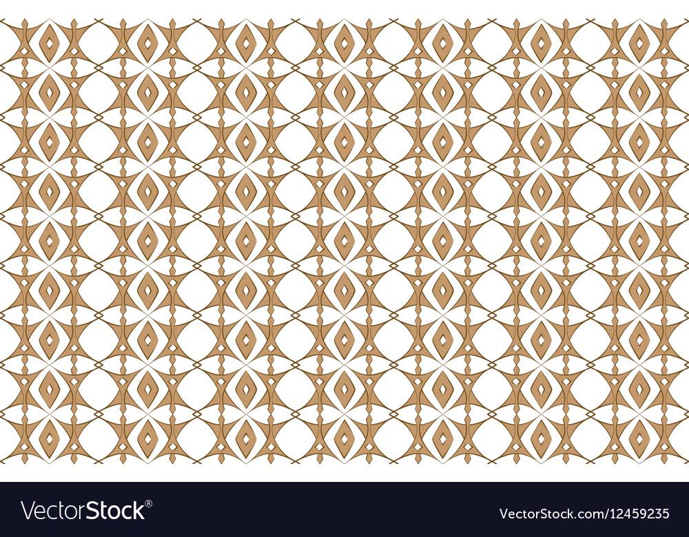 Classic geometric floral pattern
