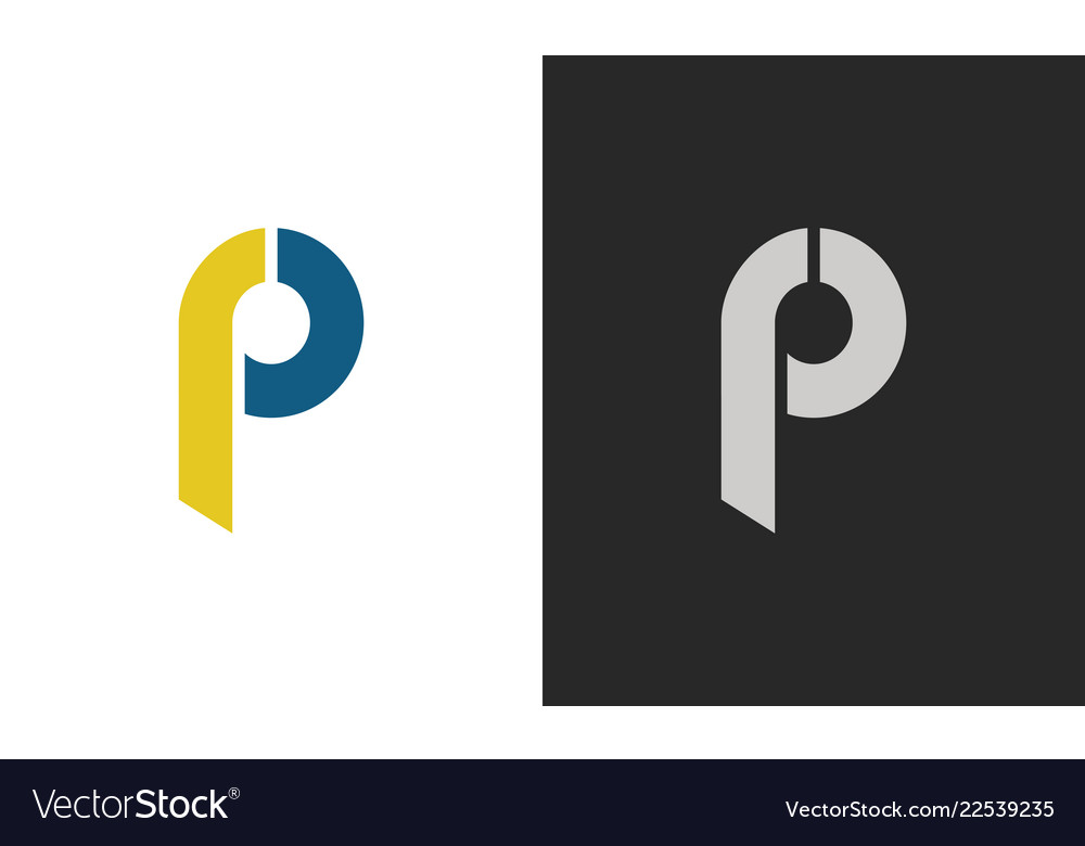 Letter p abstract logo