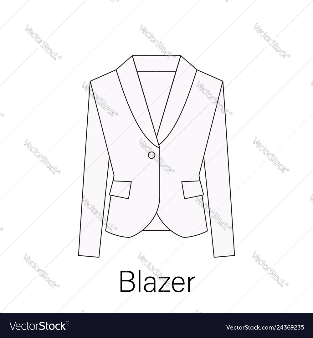 Men blazer or jacket or suit symbol simple flat ve