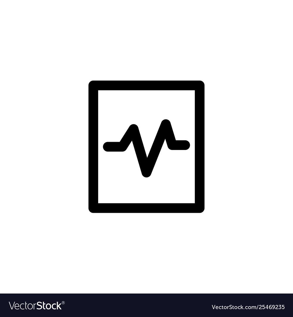 Pulse cardiogram icon