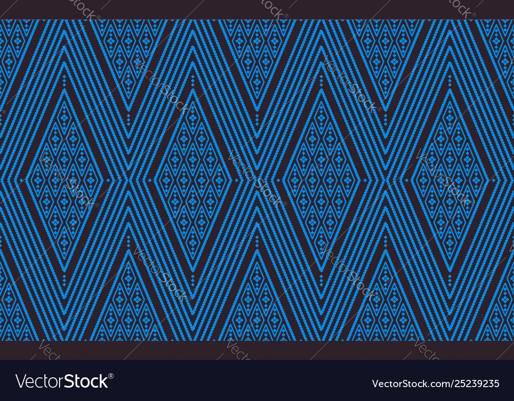 Seamless line thai blue pattern arts of