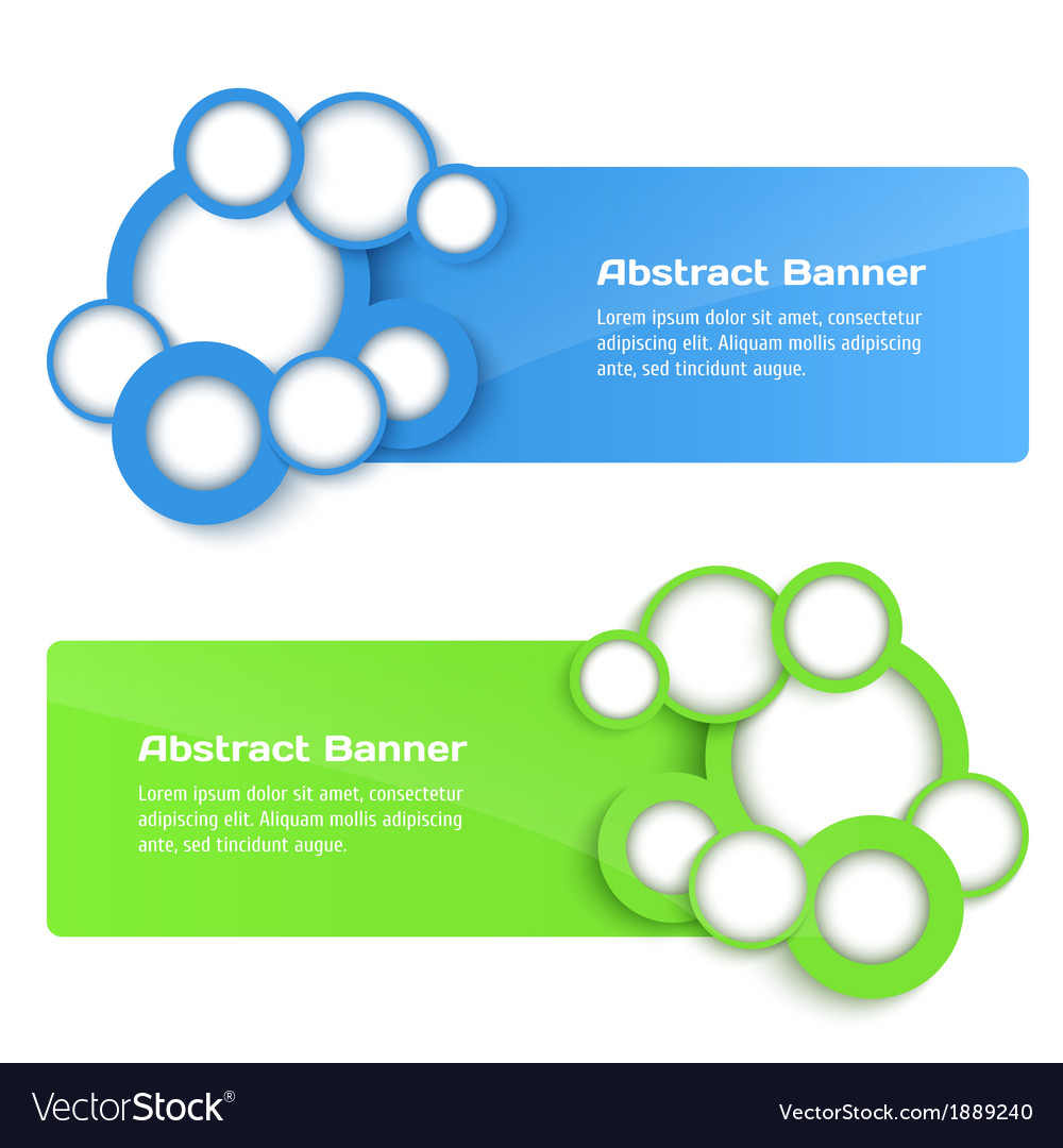 3D Banners with circle